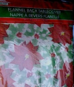 Plastic Flannel Table Cloth